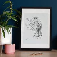 Dessin oiseau en vol